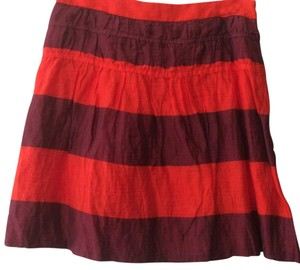 Ann Taylor LOFT Skirt Orange, maroon