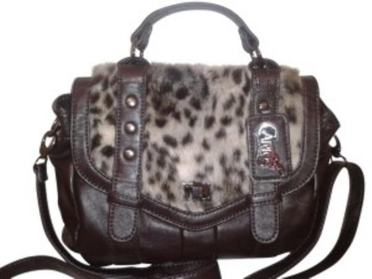 Preload https://item4.tradesy.com/images/carlos-by-carlos-santana-dark-brown-polyester-and-leopard-skin-cross-body-bag-16818-0-0.jpg?width=440&height=440