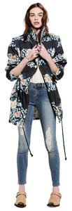 Somedays Lovin Floral Vest Bohemian Denim Jackets Never Worn Trench Coat