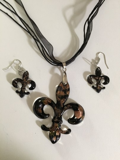 Other Saints Black Necklace and Earrings
