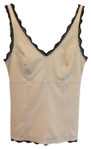 Express Top Nude with Black Lace Trim