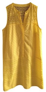 Ann Taylor LOFT short dress Yellow on Tradesy
