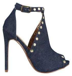 Shoe Republic LA Studded Blue Pumps