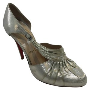 Christian Louboutin Heel Pump Gold Metallic Light Gold Formal