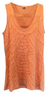 Fossil Ruffle Summer Spring Top Orange