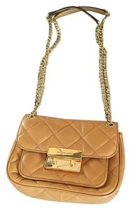 Michael Kors Quilt Leather Mk Shoulder Bag