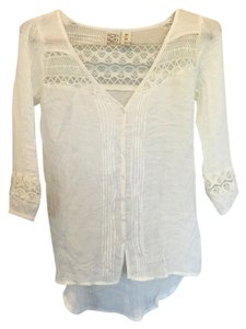 Mudd Spring Fall Lace Top Cream