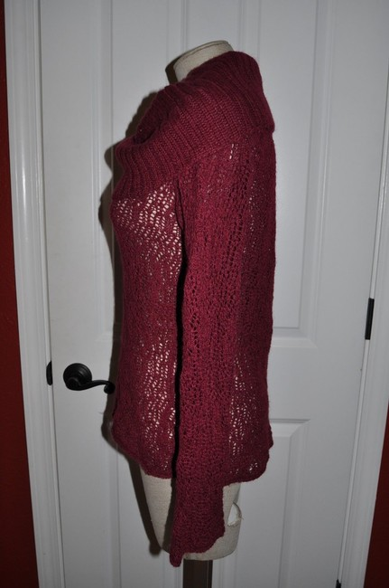 Anthropologie Guinevere Cowl Neck Open Knit Alpaca Sweater
