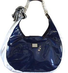 Gianfranco Ferre blue white Beach Bag