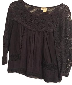Anthropologie Top Charcoal grey
