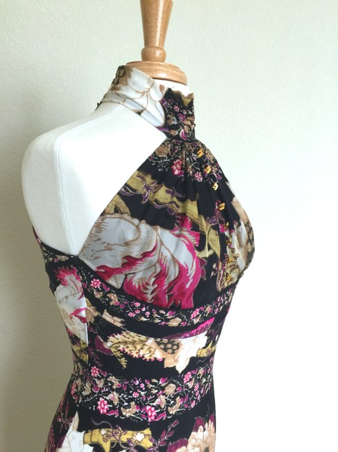 Roberto Cavalli Designer Slip Floral Bodycon Dress