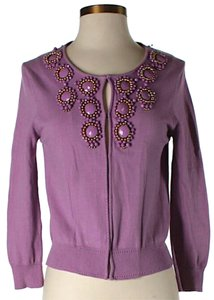 MILLY Embellished Longsleeves Cardigan
