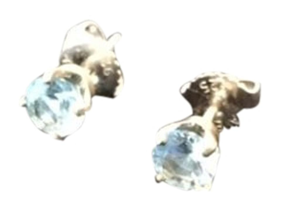 ee93c2457e85f James Avery Silver with Blue Topaz Gemstone Ep-828bt Earrings 62% off retail