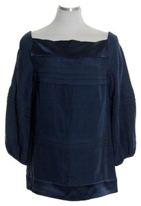 Diane von Furstenberg Silk Pleated Boatneck Tunic