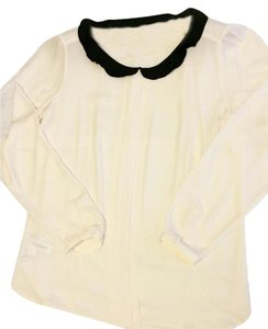Ann Taylor LOFT Wear To Work Night Out Cute Longsleeve Ruffle Top White