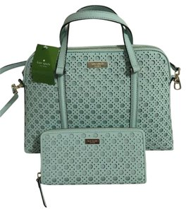 Kate Spade Wellsley Caning Satchel in Grace Blue