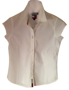 Tommy Hilfiger Face Button Down Shirt White