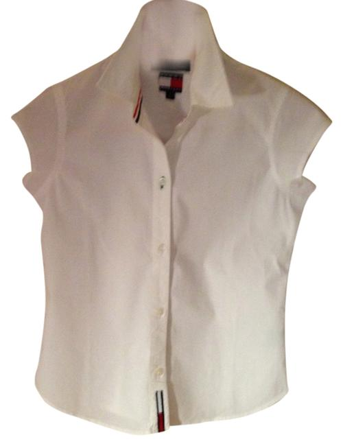 Tommy Hilfiger Face Cotton Short Sleeves Button Down Shirt White