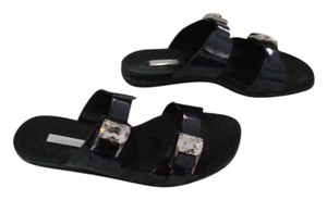 Casadei Jeweled Stunning Contoured Footbed Foot Support Made In Italy Blue Sandals