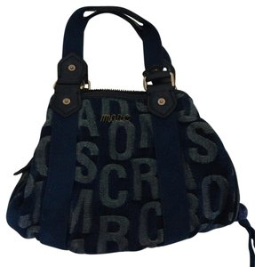 Marc by Marc Jacobs Denim Monogram Vintage Blue Satchel in Blue Monogram