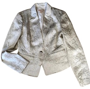 Michael Kors Metallic Dressy Off white and silver Jacket