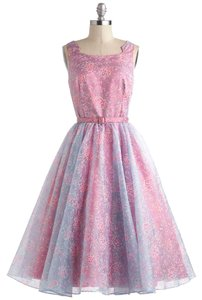 Modcloth Princess Lace Organza Satin Tulle Dress