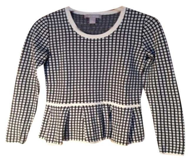 Banana Republic Peplum Checkered Sweater