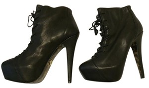 Betsey Johnson Leather Edgy Night Out Winter Is Coming Black Boots