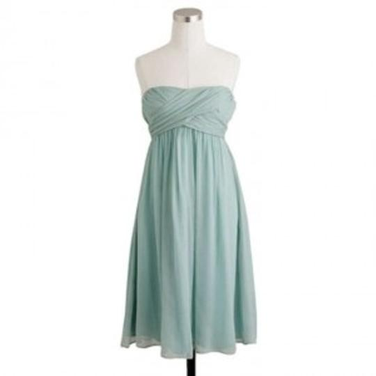 J.Crew Dusty Shale Silk Chiffon Taryn Formal Bridesmaid/Mob Dress Size 0 (XS)