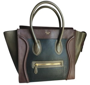 Céline Boston Luggage Blue Tote in Multicolor
