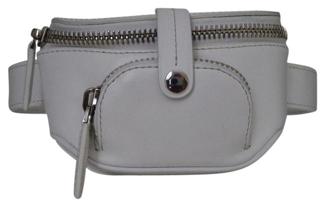 Item - Mini Fanny Pack White Leather Weekend/Travel Bag