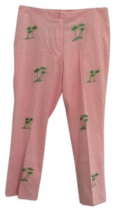 CJ Laing Palm Trees Chic Capris Pink
