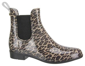Sam Edelman Animal Print Rain Never Worn Chelsea Rain Boots