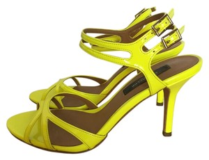Ann Taylor Patent Leather Yellow - Neon Sandals