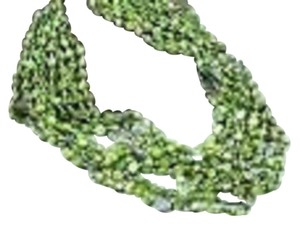 Silpada SILPADA - N1814 - 8-Strand Pyrite Green Mother-of-Pearl Knot Silk Necklace