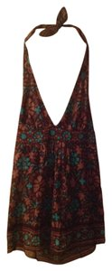 Trina Turk Brown multi Halter Top