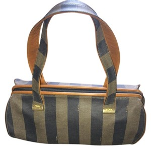 Fendi Satchel in Pequin stripe