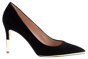 J.Crew Metallic Suede Black Pumps