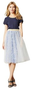 Anthropologie Tulle Print Party Skirt Blue