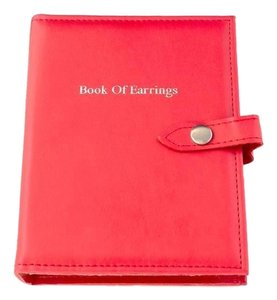 MBLife NEW Red little Book of Earrings Stand Storage Travel Box Case
