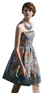 Anthropologie Strapless Party Polka Dot Dress