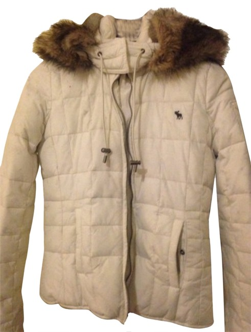 Preload https://item1.tradesy.com/images/abercrombie-and-fitch-coat-whitebrown-1682245-0-2.jpg?width=400&height=650