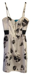 Buttons short dress black and white on Tradesy