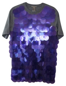 H&M Sequin T Shirt Purple