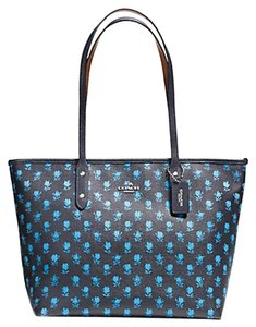 Coach Shoulder Tote Tote blue Travel Bag