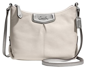 Coach Leather White Cross Body Bag