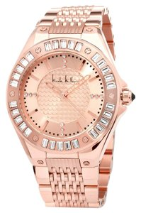 Nicole Miller Nicole Miller Madison Rosetone Crystal-Accented Bracelet Watch