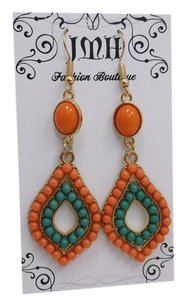 Pre-Owned, Orange and Green on Goldtone w Free Shipping