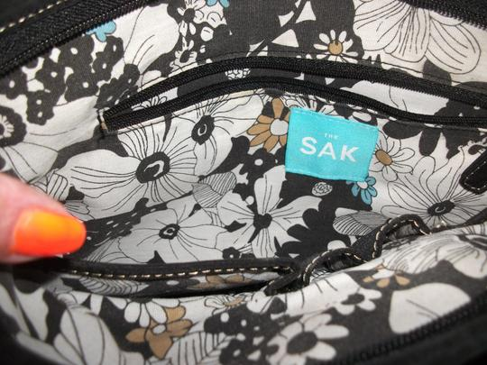 The Sak Monogram Vintage S Bottom Purse Woven Shoulder Bag