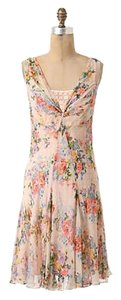 Anthropologie short dress Floral Silk Slip Flowy on Tradesy